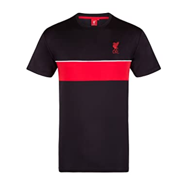 ba8b9563564 Liverpool FC Official Gift Mens Poly Training Kit T-Shirt Black LFC Small