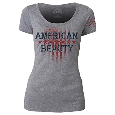 275904fa7 Grunt Style American Beauty Women's T-Shirt, Color Heather Gray, ...