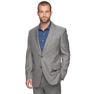 ec98d4f4 Marc Anthony Men's Slim-Fit Herringbone Suit Jacket (46 R, Gray Plaid) at  Amazon Men's Clothing store: