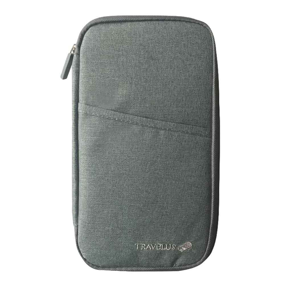 Koala Superstore Travel Passport Wallet & Document Organizer Zipper Case For Men/Women - Grey