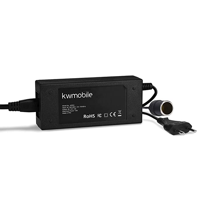 Kwmobile Transformador de voltaje de 240V a 12V encendedor de ...