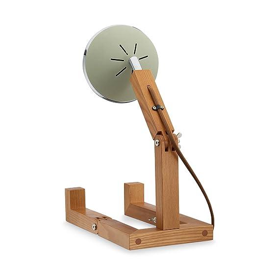 Mr. Wattson, la madera de fresno flexible lámpara de mesa en ...