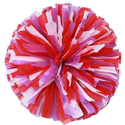 2 Pcs Multicolore Cheerleading Cheer Pom Poms Sport Danse Cheerleader Pom Poms