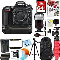 Nikon D750 FX-Format 24.3MP DSLR Camera (Body Only) + Deluxe Power Battery Grip Accessory Bundle