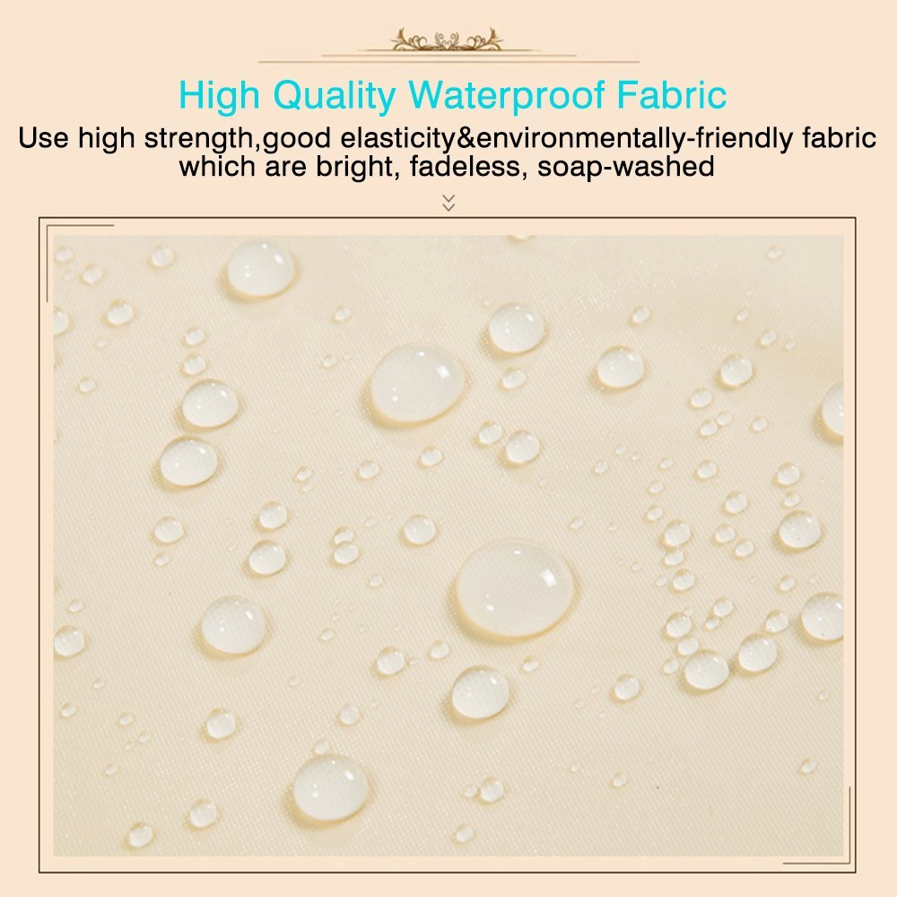 Hotel PEVA Long Shower Curtain Liner, Water repellent, Mildew Resistant, Machine Washable, Beige Shower Curtain with 12 Grommets, 71(W) x 78(H) inches for Bathroom,Toilet Dressing Room by MEIWU (Image #2)