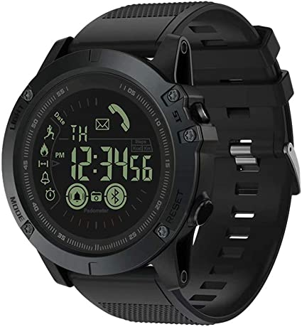 Paddsun T1 Tact -Military Grade Super Tough Smart Watch Outdoor Sports Talking Watch, Mens Digital Waterproof Tactical Watch with Luminous Dial for ...