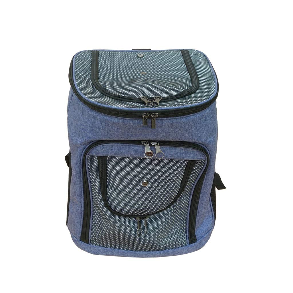 bluee 363043.5cm bluee 363043.5cm Backpacks Pet bag cat Dog Out of The Outcrop Portable Increase Bag Backpack pet Supplies bluee Gift (color   bluee, Size   36  30  43.5cm)