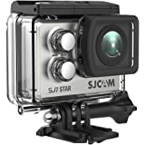 "SJCAM SJ7 Star Wifi Action Camera, 4K@30FPS Ambarella A12 Chipset/2"" TouchScreen/Sony Sensor/ Wireless Remote Control Supported /Gyro Stabilization,Waterproof Underwater Camera (Case Included)- Silver"