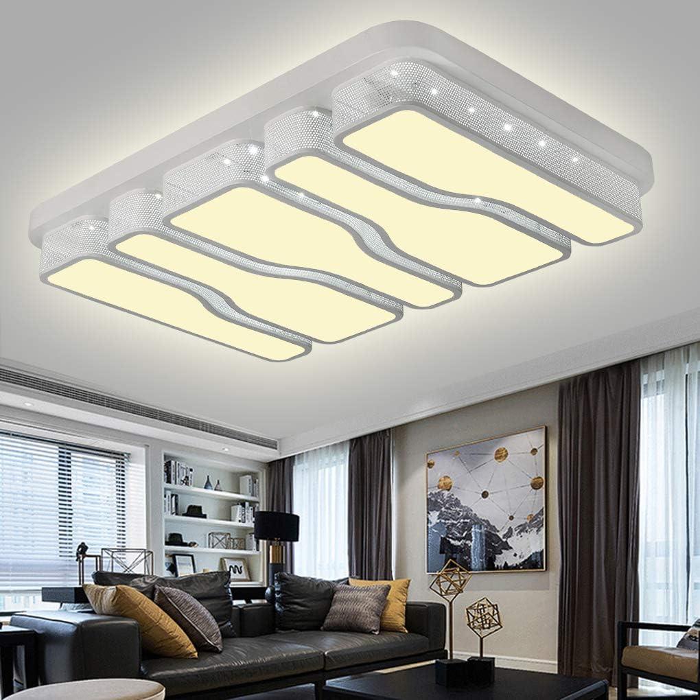 couloir couloir cuisine chambre /à coucher chambre /à coucher COOSNUG Plafonnier LED carr/é /à /économie d/énergie pour salon /économie d/énergie Schwarz-78w Kaltwei/ß