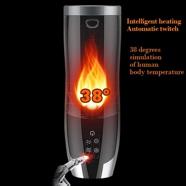 TTFRD Tshirt Men's Airplane Cup Electric Smart Heating Male Masturbator Auto Retractable R-ealistic Vagina Masturbation Cup Oral Vibrator Sex-Toys for Men
