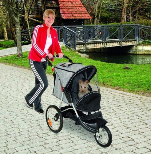 Teflon® Hunde Sport Buggy -Jogging Jogger Hundetrolley Hundebuggy Hundebuggie Buggie - Luftreifen Bis 12 KG