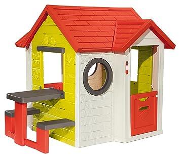 Smoby Mein Haus mit Picknicktisch Spielhaus 154x135x120 cm ...