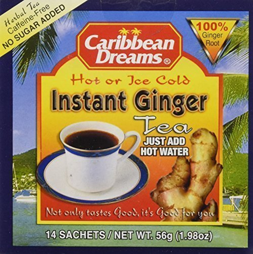 (Caribbean Dreams Instant Ginger Tea Un-Sweetened 14 Sachets (pack of)