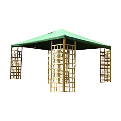 Garden Winds 12 x 12 Wood Gazebo Replacement Canopy - RipLock 350 : Garden & Outdoor
