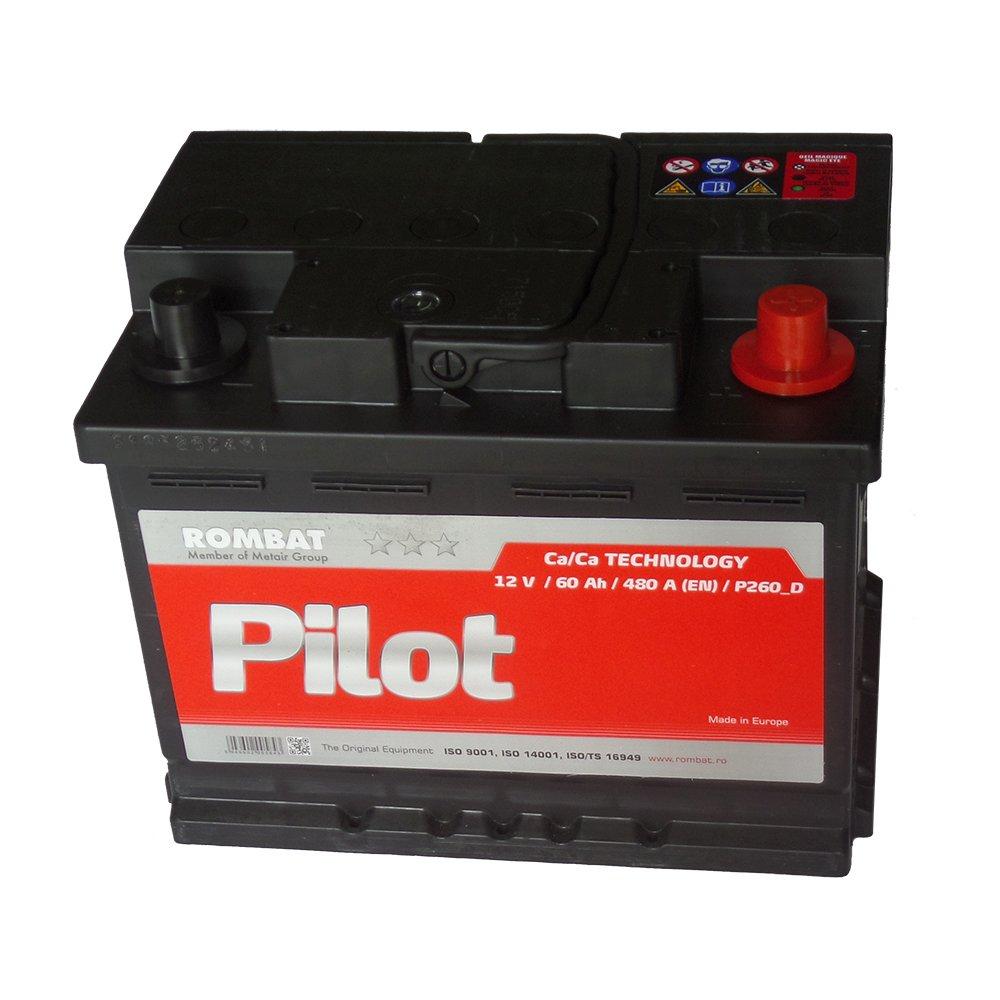 Batterie voiture P260 12v 60ah 480A 242x175x190mm