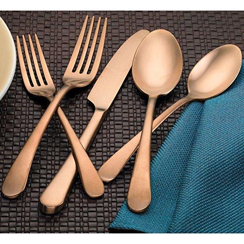 Hampton Signature 20 Piece Stainless Steel Flatware Set (Poise Copper)