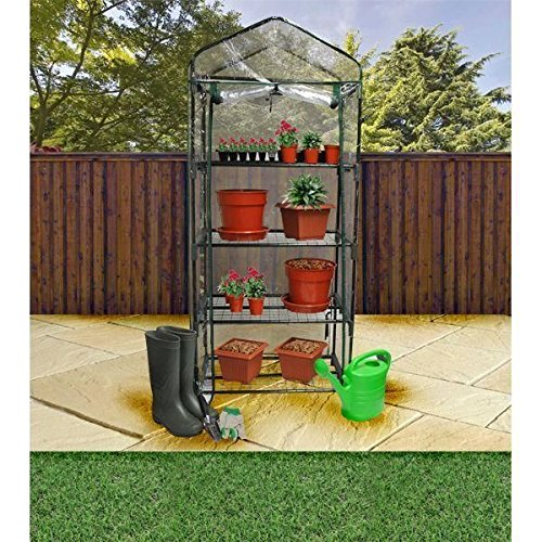 4 Tier Greenhouse Compact Plastic Grow House for Garden Plants & Seedlings new