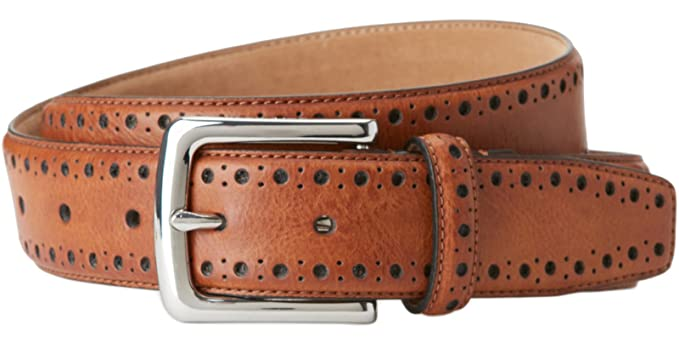 d894774626a Cole Haan CHDM31039 Tan Perforated Trim Belt at Amazon Men s ...