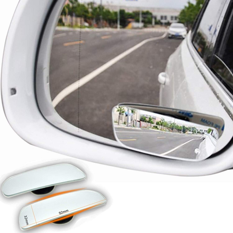 2x Namgiy Toter Winkel Spiegel Einstellbare HD Glas Weitwinkel Spiegel 360/° Drehbare Quadratische Seitenansicht Auto Seiten Konvexen Spiegeln