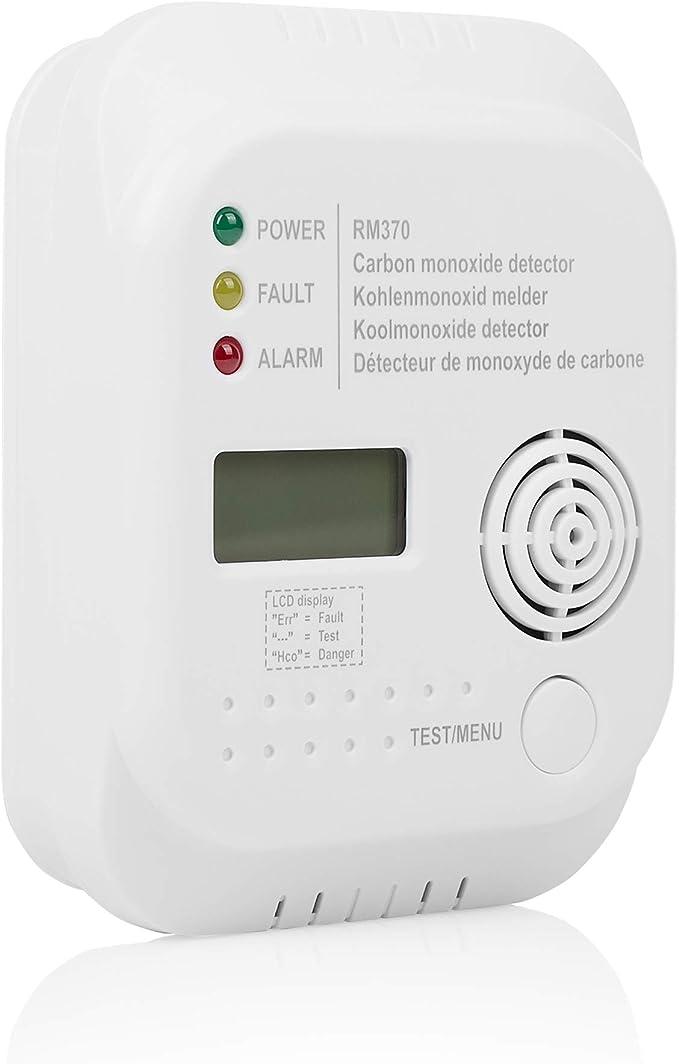 Kohlenmonoxidwarner mit lautem Alarmton 2Stk CO Melder Gaswarngeräte 10 Jahre