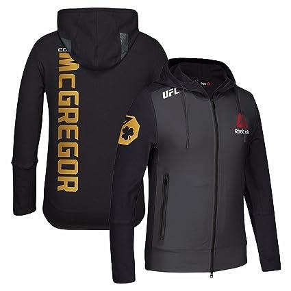 125c7fd145c9f Reebok Conor McGregor UFC Black Limited Edition Champion Walkout Hoodie for  Men