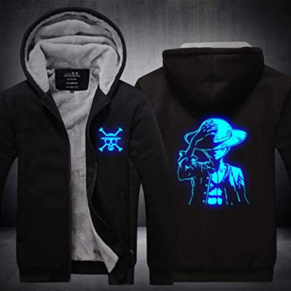 Imprimé Sweatshirts Chaud à Manches Sweats Longues GuiSoHnh Manteaux Homme à Hoodie Capuche Capuche Anime Hiver Blousons Piece Epaisse Veste One tsdhxQrCoB