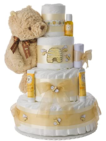 Amazon Winnie The Pooh 4 Tier Diaper Cake By Lil Baby Cakes