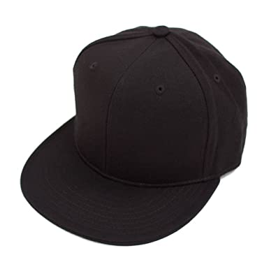 DECKY Men s Fitted Baseball Hat Cap Flat Bill Blank at Amazon Men s ... 9cb6414fa593