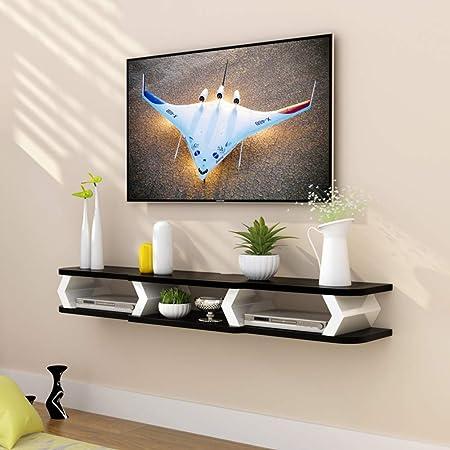 TriGold Pared TV Mueble,Flotante Estante Consola para TV Decoración Moderna del Hogar Consola para TV para Set-Caja De Cable Superior Almacenamiento B 150x22x15cm(59x9x6inch): Amazon.es: Hogar