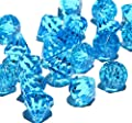Round Acrylic Diamond Crystals Treasure Gems for Table Scatters, Vase Fillers, Event, Wedding, Birthday Decoration Favor, Arts & Crafts (1 lb. Bag) By Homeneeds0153;