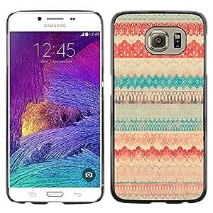 TopCaseStore / la caja del caucho duro de la cubierta de protección de la piel - Polka Dot Pattern Sweater Teal - Samsung Galaxy S6 SM-G920