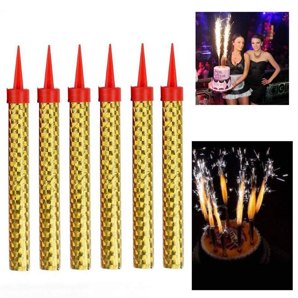 Bestforever21 - 6 Velas Brillantes para Fiestas de ...
