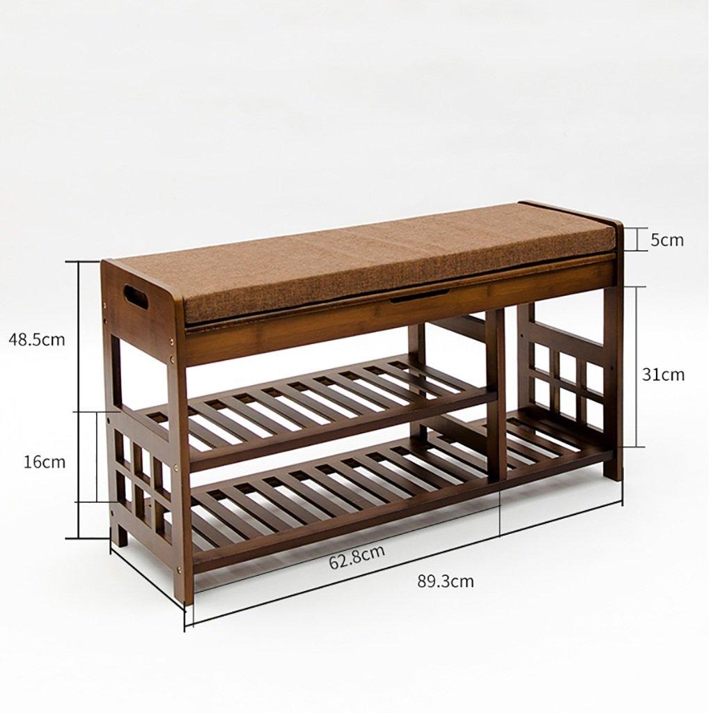 Bambou naturel pour la chaussure tabouret simple canapé tabouret chaussures de stockage domestique tabouret Nanzhu