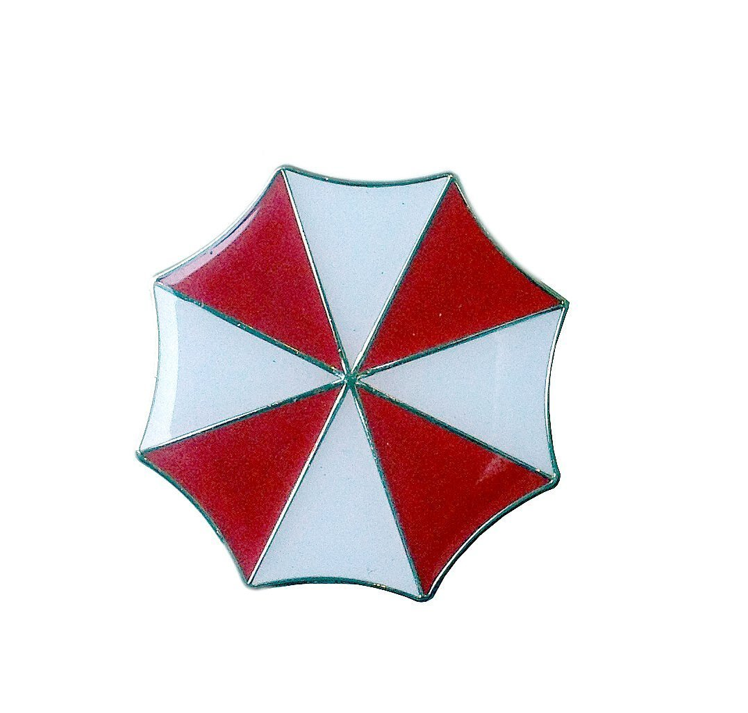 Titan One Europe Pin Resident Evil Die Cast Pin Special Forces Umbrella Corporation Logo Jacket Cap Beret Cosplay Costume Prop