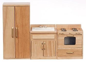 Kühlschrank Puppenhaus : Puppenhaus miniatur oak küchenmöbel set waschbecken herd