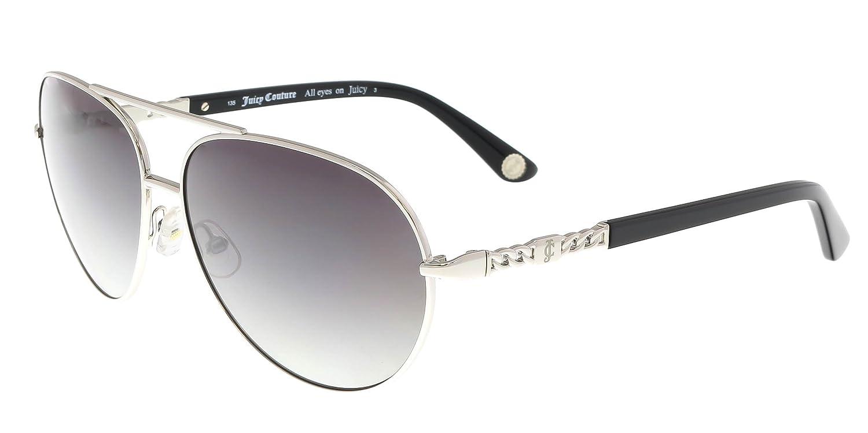 aa5d3b8c8e9a Juicy Couture Women's JU 582/S F8 86P Sunglasses, Silver Black/Grey Sf, 58:  Amazon.co.uk: Clothing