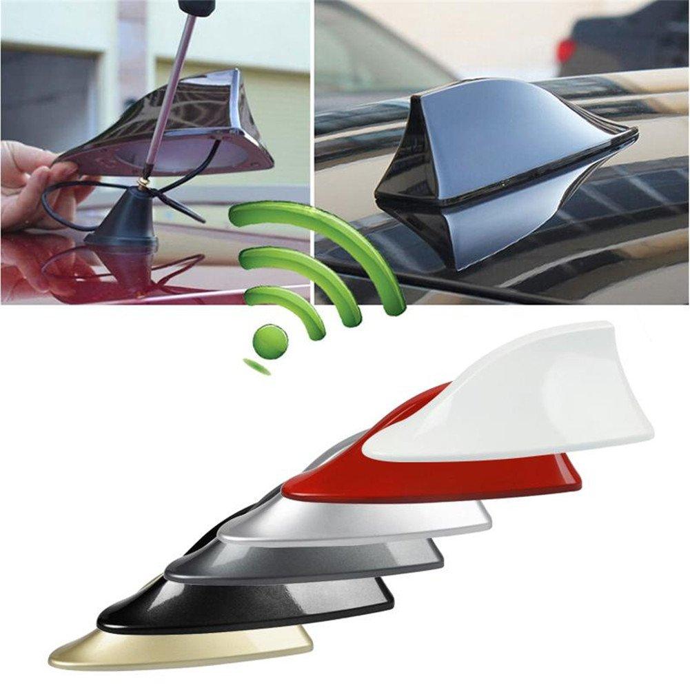 Zhuotop Coche techo coche superior AM//FM Radio antena aleta de tibur/ón antena Universal de se/ñal