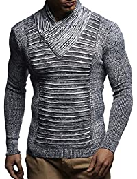 Men's Knitted Pullover Jumper Sweater Hoodie Long Sleeve Slim fit