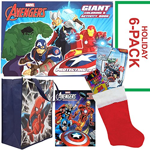 Avengers Christmas Stocking Stuffer Bundle - Disney Marvel Avengers 6 PACK - Christmas Gift for Children Ages 3-8 ()