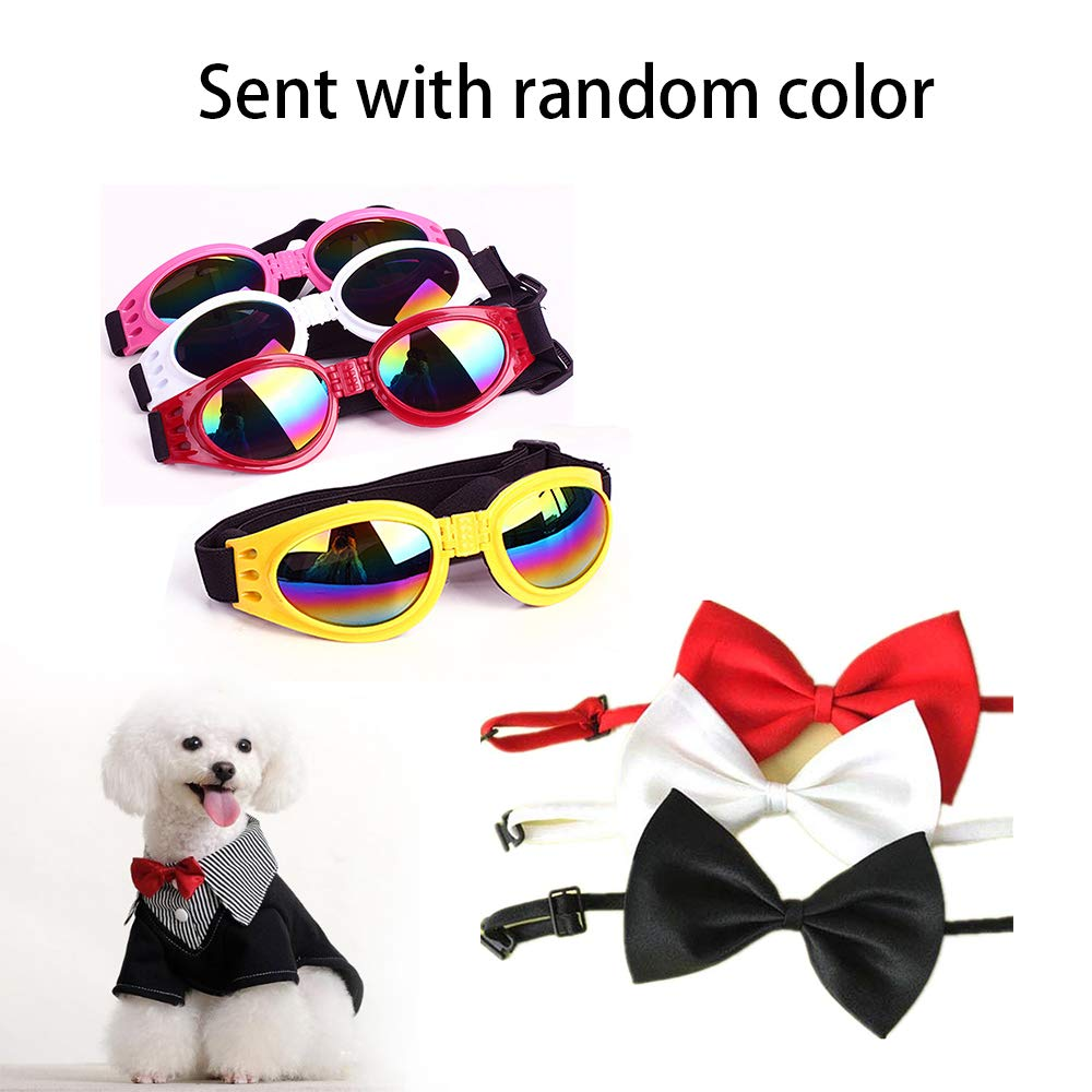 Dog Bed Hot Dog Design Removable and Washable Dog Sofa Dog Mat for Small Animals with Bow Tie and Sunglasses L by Be Good (Image #9)