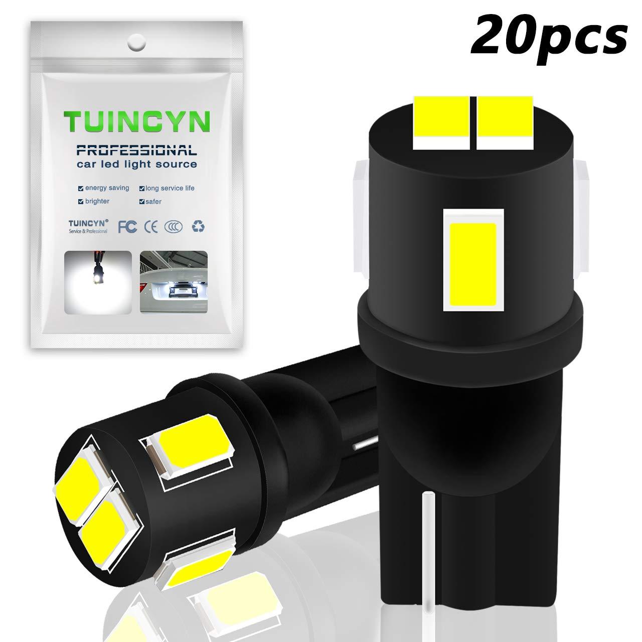 confezione da 10 Tuincyn estremamente luminoso 450/lumen 5630/6SMD chipset 168/194/2825/175/921/912/lampadine LED bianco interno della cupola lampadine backup luci tronco laterali luci 2/W 12/V 6000/K
