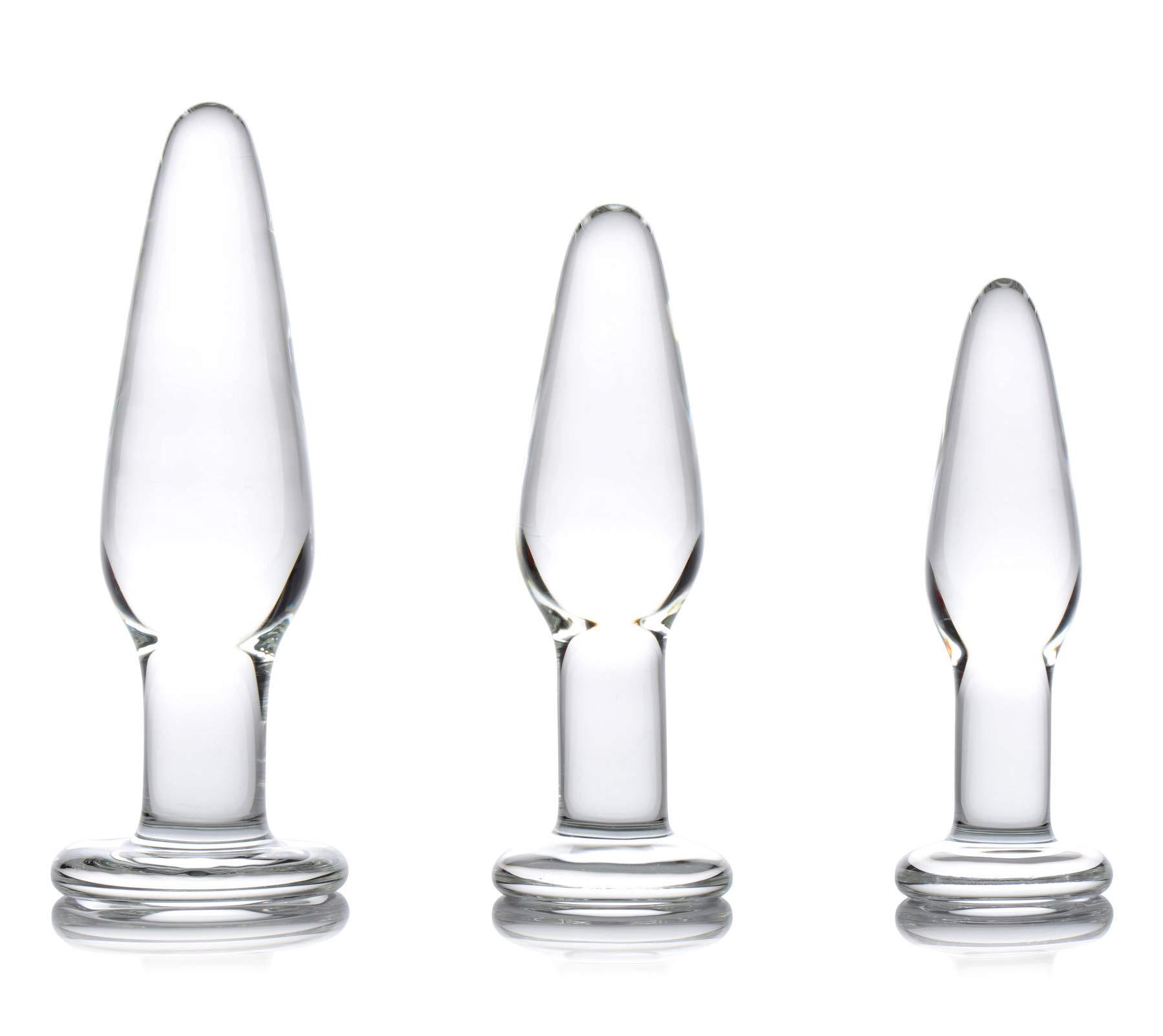 Dosha 3 Piece Glass Anal Plug Kit by PRISMS