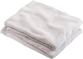 product image for Brahms/Mount Madison Blanket | Cotton - Natural - Full