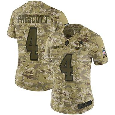 new product 4e62b 7dad6 Amazon.com: Dallas Cowboys #4 Dak Prescott Women's Salute to ...