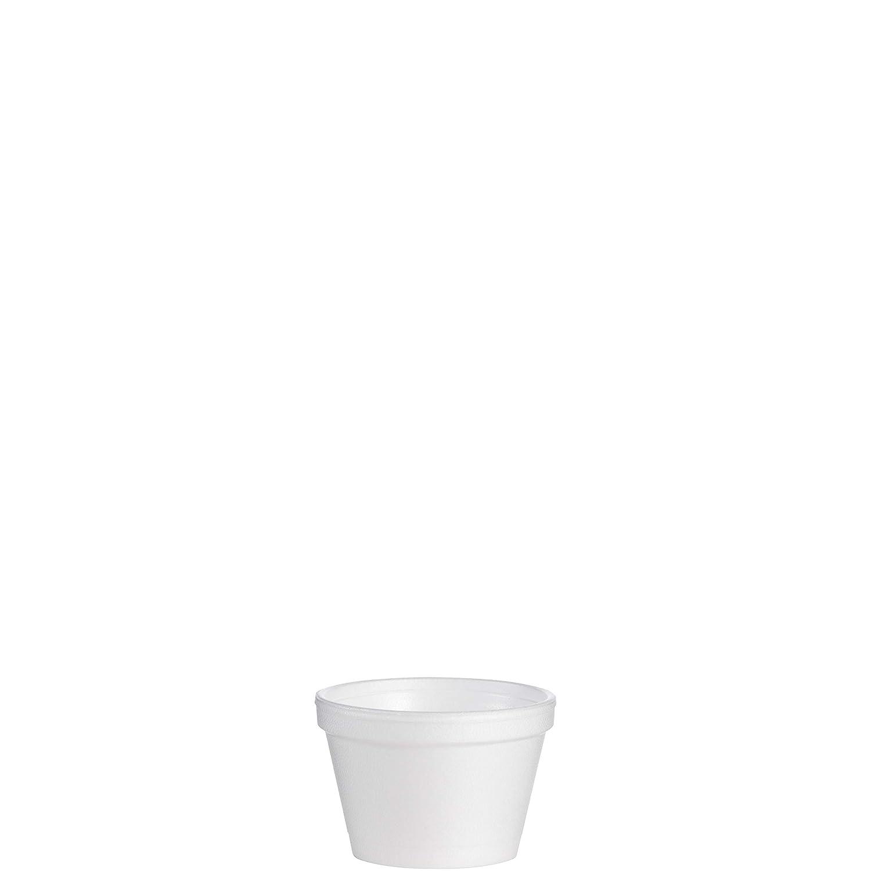 Dart 35J6 Foam Container, 3 1/2 oz, White, Squat, 50 Per Pack (Case of 20 Packs)