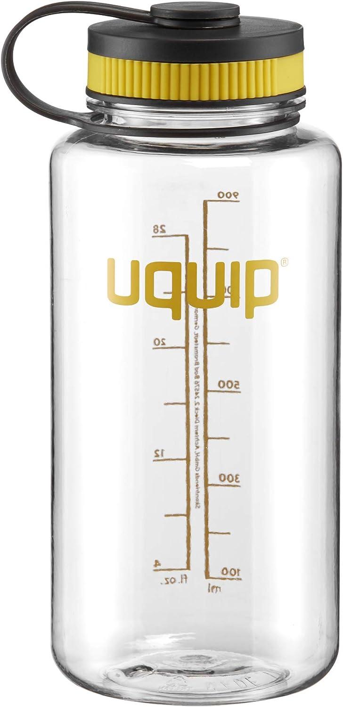 Uquip Thirsty 2.0 Botella de Agua - Tritan Material mas Duradero - 1 litro - con Cierre de Rosca