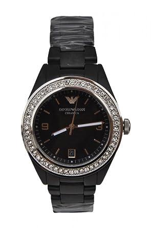 0384f91e Amazon.com: Emporio Armani Watch, Women's Black Ceramic Bracelet ...
