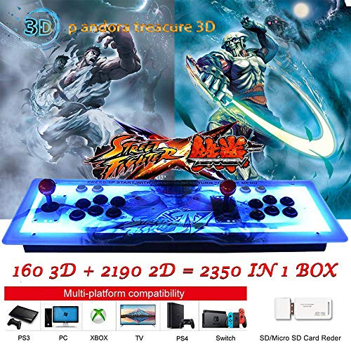 ElementDigital Arcade Game Console 1080P 3D & 2D Games 2350 in 1 Pandora's Box Metal Box with Dream Color LED Lights 2 Players Arcade Machine with Arcade Joystick Support Expand 6000+ Games by ElementDigital (Image #3)