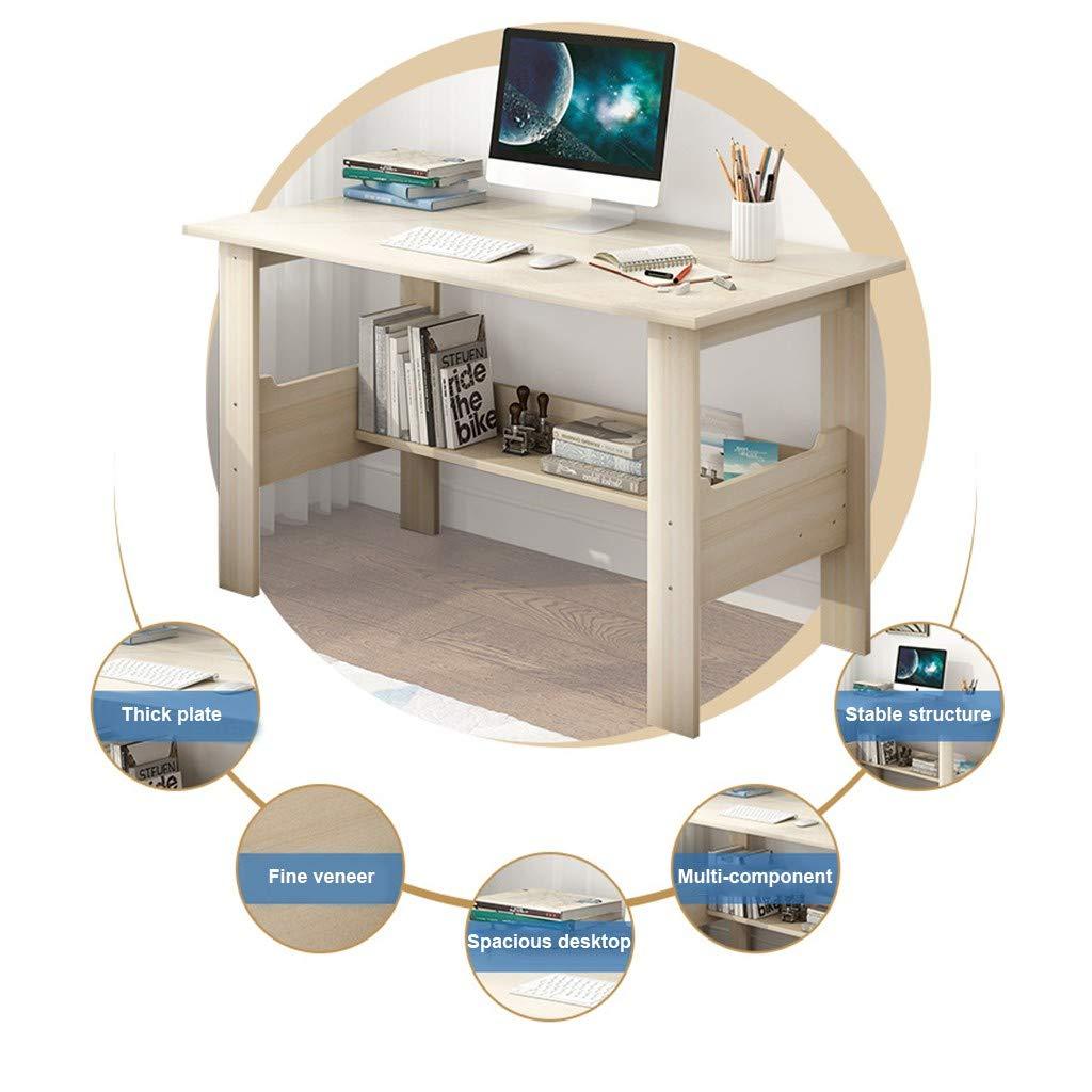 Maple Cherry Qiwind Home Study Table for Students Desktop Computer Desk Bedroom Laptop Office Desk Workstation