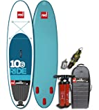 Red Paddle Co RIDE 10'6 (2016 Series) Inflatable SUP Package with Roller Pack, Titan Pump, Phone Case, Gauge, Ankle Leash.